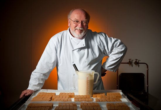 Ballasalla, UK: Our founder and managing director, Peter with some fudge(!)