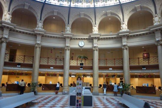 Interior del Edificio de Correos y Telégrafos