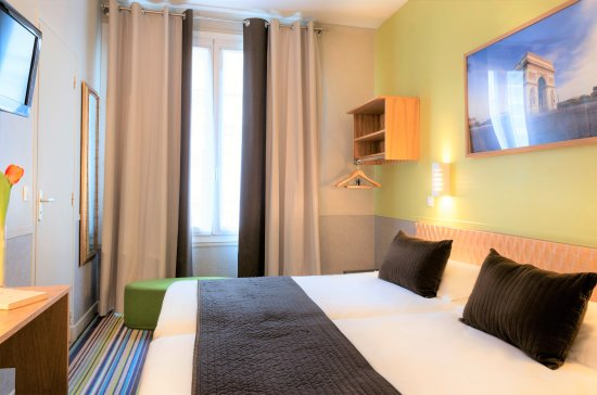 Hotel Glasgow Monceau Paris - Comfort Classic Green room with twin beds