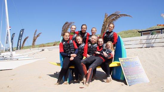 Bloemendaal, Niederlande: Watersport girls