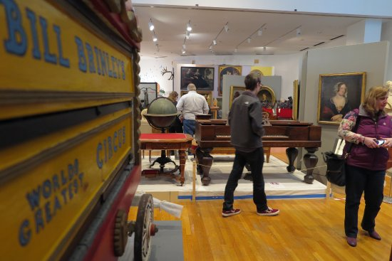The Barnum Museum : Our modern gallery space features miniature carriages, sculptures, and furniture.