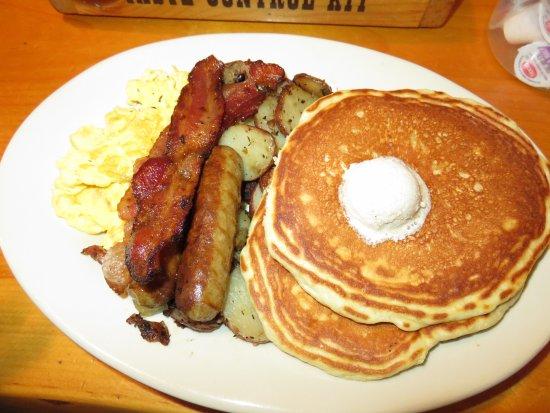 Flapjack's Pancake House: #4 Hungry as a Bear Breakfast Platter