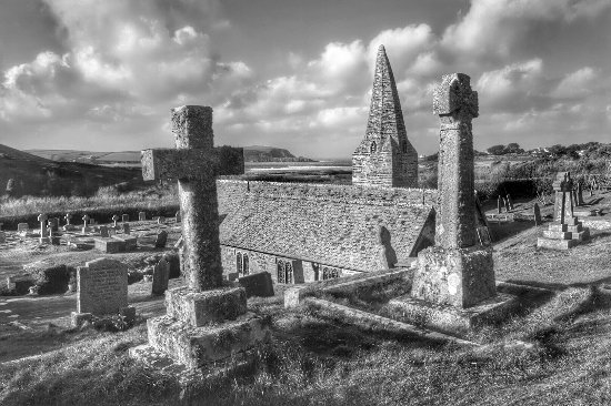 Trebetherick, UK: St. Enodoc Church...