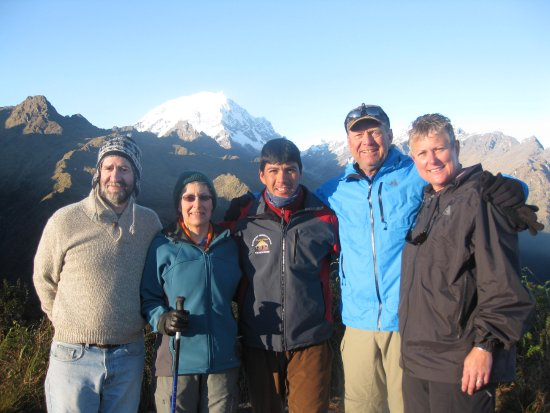 Amaru Journey Peru: Juan in the middle on the last day of our trek just before arriving at Machu Pichu.