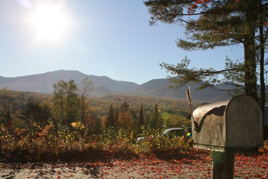 Franconia, Nueva Hampshire: Mount Lafayette (left) and Cannon Mountain (right).