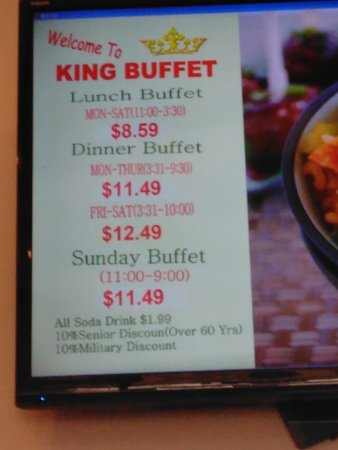 king buffet picture of king buffet san antonio tripadvisor rh tripadvisor com buffet king prices albuquerque buffet king prices at hou