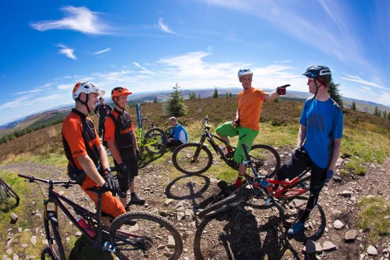 Peebles, UK: RIDELINES - Mountain Biking Tuition, Scottish Borders. Tweed Valley.