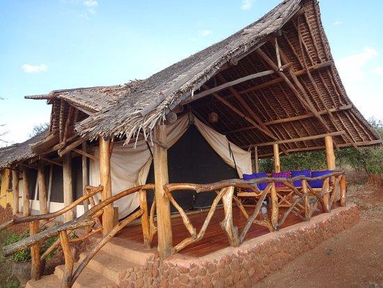 Satao Elerai: Exterior of tent