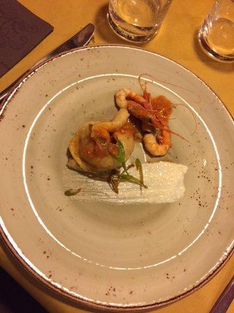 Ponsacco, Italië: Antipasto con scampi e seppia