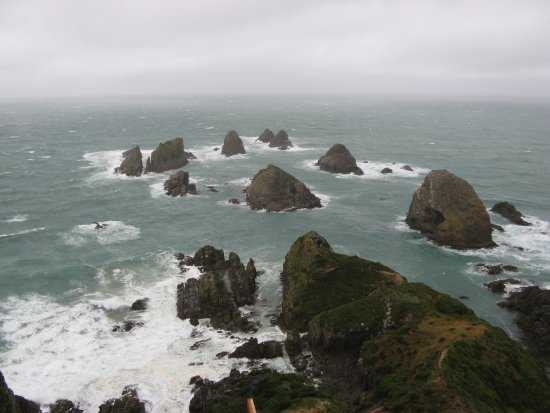 Balclutha, Nieuw-Zeeland: Nugget Point on a stormy day