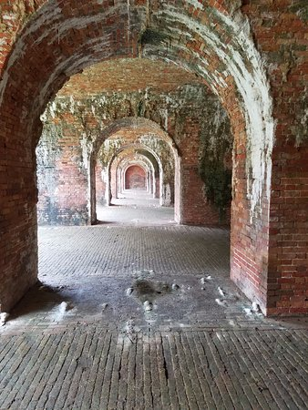Fort Morgan, AL: Within the old casemates