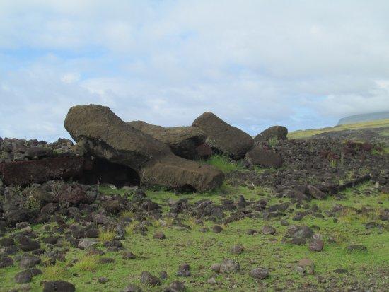 Ahu Akahanga: Fotografía de un moai