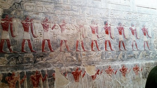 Mastaba of Kagemni: Also here, a story is behind these beautiful engraving and the beautiful lasting colors