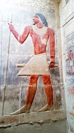 Mastaba of Kagemni: Amazing lasting color of engraving,
