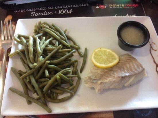Rang-du-Fliers, Francia: Dos de colin, haricots à fils !