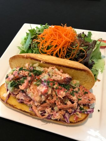 Lobster Roll with side salad