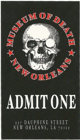 Admission ticket to the museum. - Picture of Museum of Death 33527d63c18