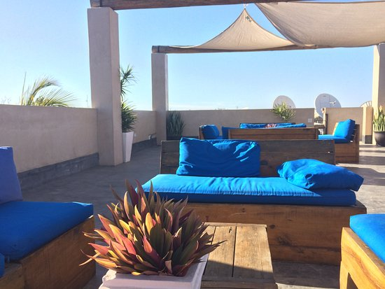 Hotel Casa Tota: Rooftop space where you can watch sunset