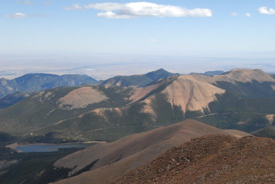 Pikes Peak: looking SouthWest from the summit