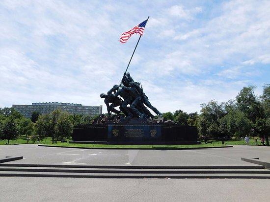 U.S. Marine Corps War Memorial: From a distance