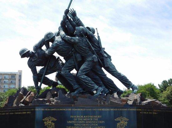 U.S. Marine Corps War Memorial: Up Close