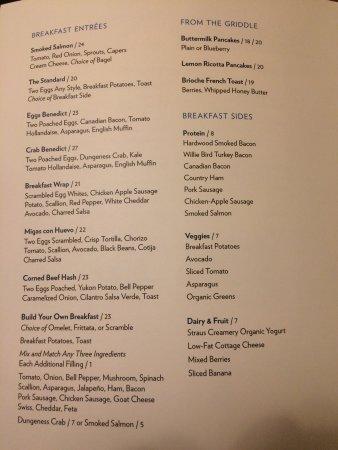 Four Seasons Hotel San Francisco: In room dining menus