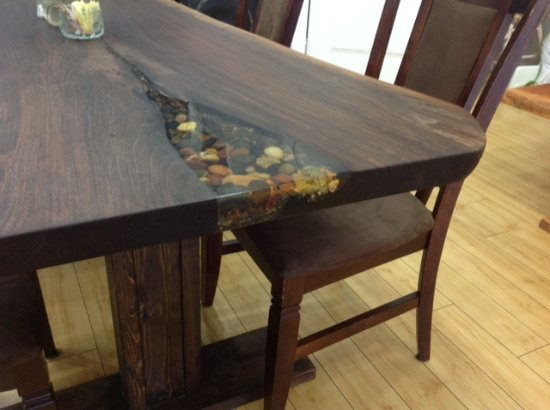 Superieur Edible Art Cafe: One Of A Kind Live Edge Tables