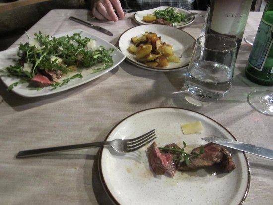 Guasticce, Italia: Hauptspeise