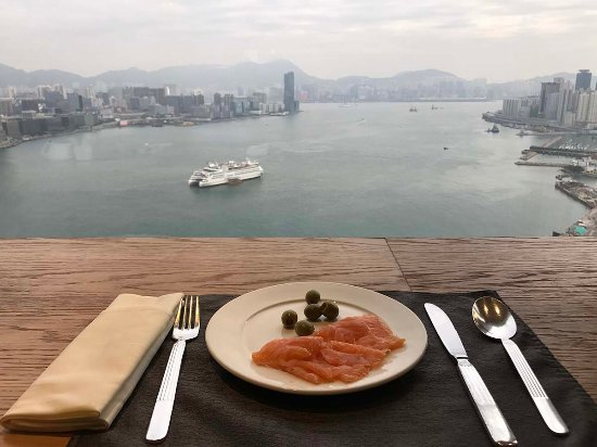 Breakfast At Club Loung With A Harbour View Picture Of Renaissance