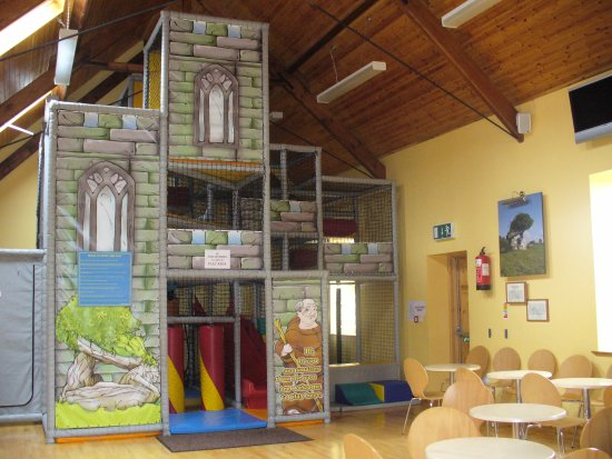 "County Leitrim, Ireland: ""The Monks Den"" ..three tier climbing frame and ball pit based on a Monastery theme"