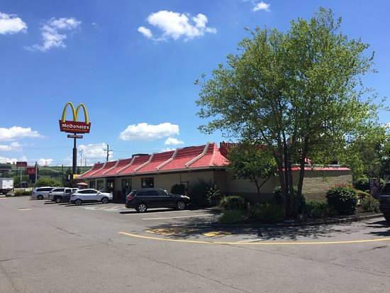 Plenty of parking space at McDonald's in Cortland