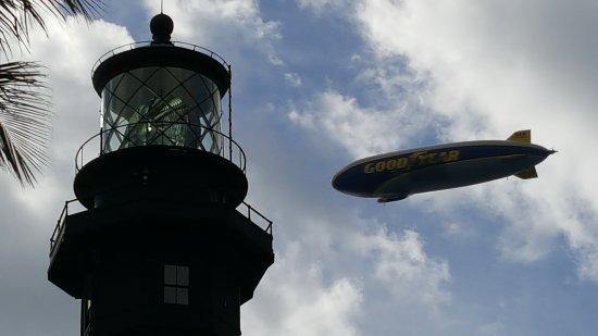 Hillsboro Beach, FL: Hillsboro Lighthouse/Goodyear Blimp