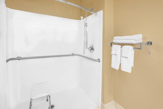 Sevilla, OH: Handicap roll in shower