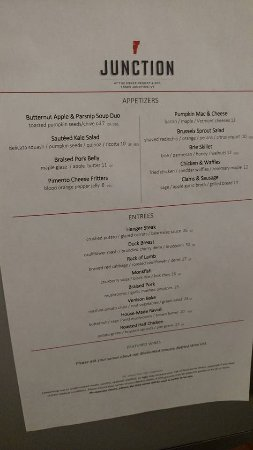 Essex, Vermont: menu