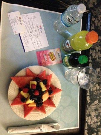 Hilton Garden Inn Austin North: Wonderful staff! Lovely tray sent up as I was not feeling well.