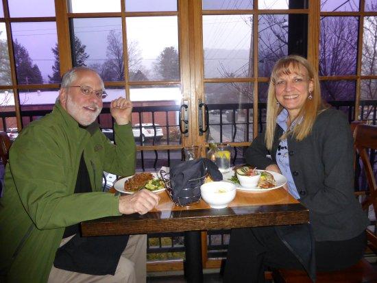 Waynesville, NC: An early dinner on a rainy day...