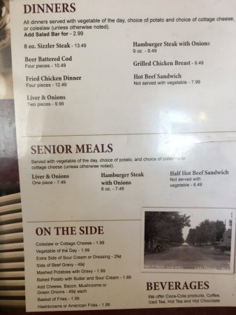 Lake Odessa, MI : Lunch and dinner menu