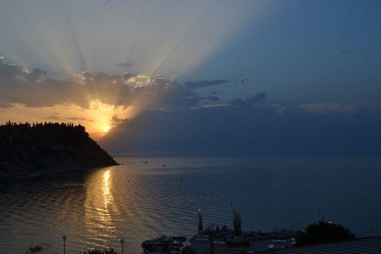 Barbara Piran Beach Hotel & Spa: Zimmeraussicht - alle Zimmer haben Meerblick