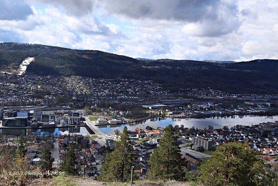 Spiralen: View of Drammen from hill top