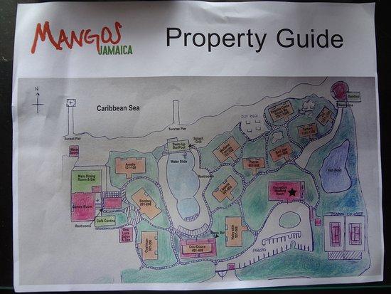 Mangos Resort map - Bild von Mangos Jamaica, Falmouth ...