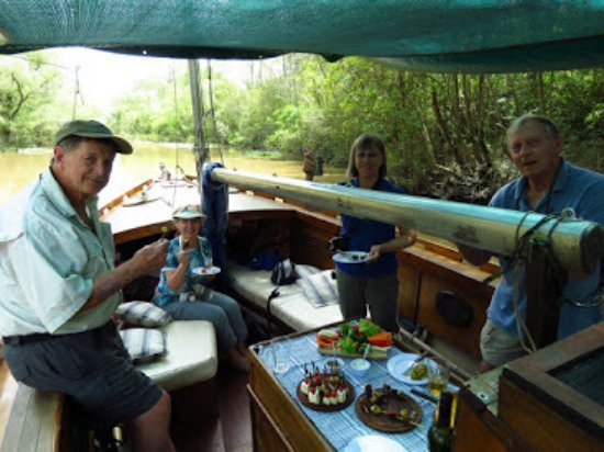 Delta Unplugged: Enjoying a magnificent lunch on our canal cruise
