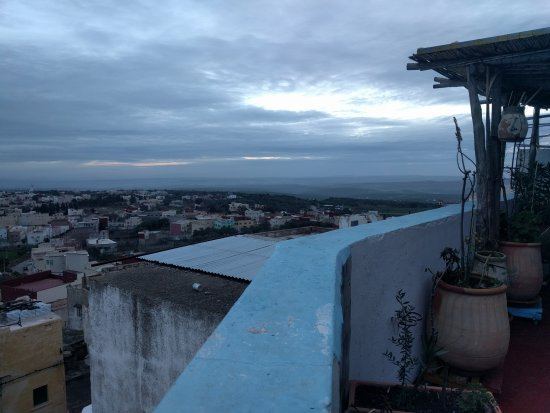 Dar KamalChaoui: View of Bhalil in early morning from the roof deck