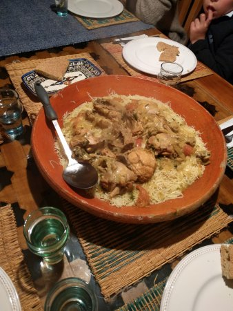 Dar KamalChaoui : Dinner which was incredible. Kamal gave the leftovers to a local Berber family.