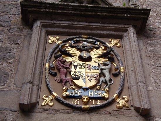 Coat of Arms entering Cawdor Castle, Nairn, Scotland