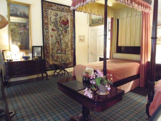 The Pink Bedroom in Cawdor Castle, Nairn, Scotland