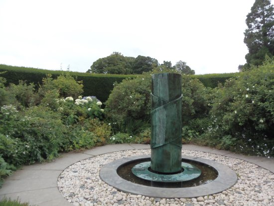 Sculpture fountain in 1 of the gardens at Cawdor Castle, Nairn, Scotland
