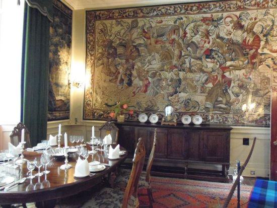 17th cent. tapestries in Cawdor Castle Dining Room, Nairn, Scotland