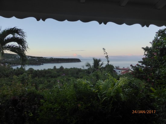 Le Rayon Vert: vue depuis la terrasse de notre chambre
