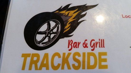 Trackside Bar and Grill: Signage