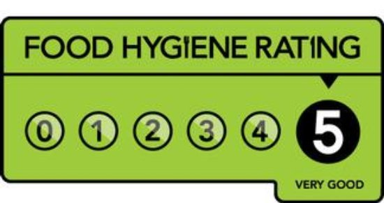 Caldicot, UK: Donnie's 5 Food Hygiene Rating - Freshly prepared food Served all day!